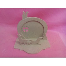4mm MDF Fairy door with Chimney